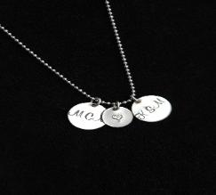 Sterling Bling Disc Necklace