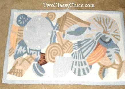 coastal beach accent rug