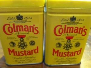 Colman's Dry Mustard tins