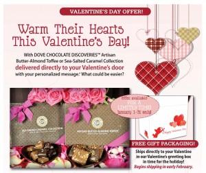Dove Sea Salt Caramels Valentines Promo http://twoclassychics.com
