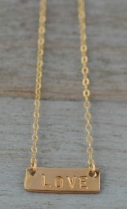 Something About Silver love bar necklace http://somethingaboutsilver.com