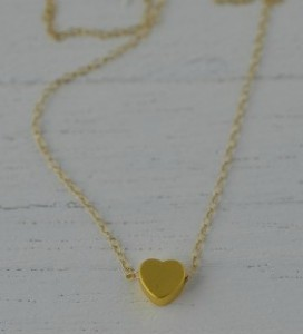 Something About Silver Delicate Tiny Heart Necklace http://somethingaboutsilver.com