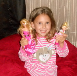 Princess Loving Her New Dolls!