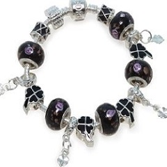 black charm bracelet love my gems