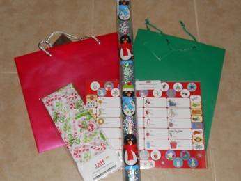 holiday gift wraps and bags