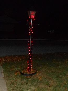 holiday lights lamp post