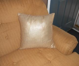 Light Gold Metallic Linen Pillow