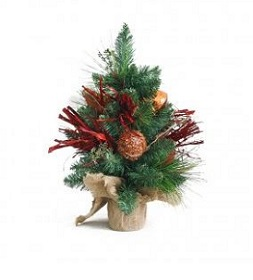 potted holiday tree table centerpiece
