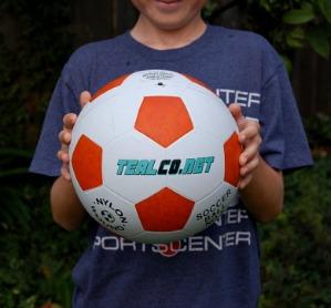 Full Size Tough TealCo LED Light Up Soccer Ball