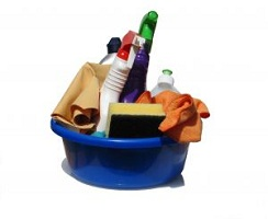 cleaning supplies http://twoclassychics.com/2014/01/cleaning-tips-prevent-spread-germs/