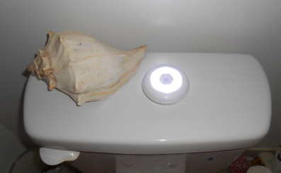 Wireless Light in Bathroom