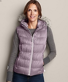 Northern Aurora Down Vest in Hyacinth