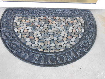 Riverstone Welcome Slice Door Mat by Mohawk