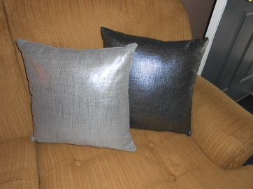 Metallic Linen Throw Pillows from Pillow Decor