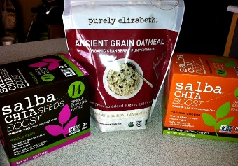 Healthy Breakfast Idea: Salba Chia With Purely Elizabeth Ancient Grain Oatmeal