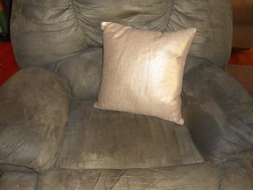 gold metallic pillow