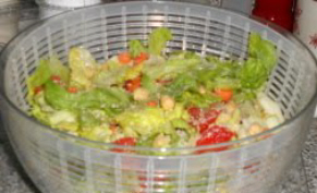 homemade salad with dressing