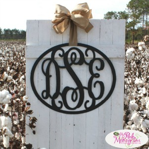 The Pink Monogram Metal Wall Hanging Monogram