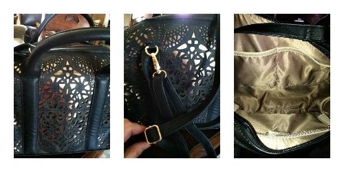 Midnight Velvet Laser Cut Handbag http://two