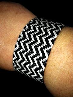 York Design Co Chevron Bracelet http://twoclassychics.com/2014/03/york-design-co-handcrafted-needlepoint-bracelet/