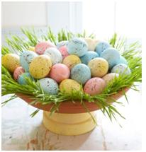 speckled egg craft http://twoclassychics.com/2014/04/3-dyed-easter-egg-crafts-krups/