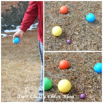 playing bocce ball