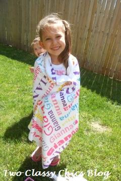 Personalized Children's Beach & Bath Towels