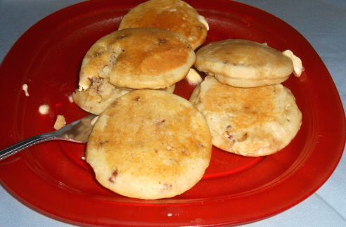 Silver Dollar Raspberry Pancakes
