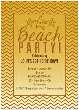 celebrations.com beach party invite http://twoclassychics.com/2014/06/tips-hosting-awesome-beach-party/