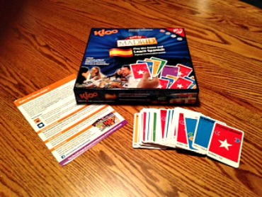 Kloo Language Game http://twoclassychics.com/2014/06/learn-a-language-kloo-language-board-game/