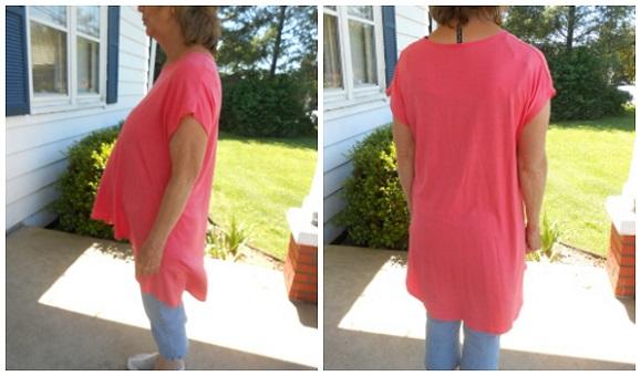 coral tunic shirt