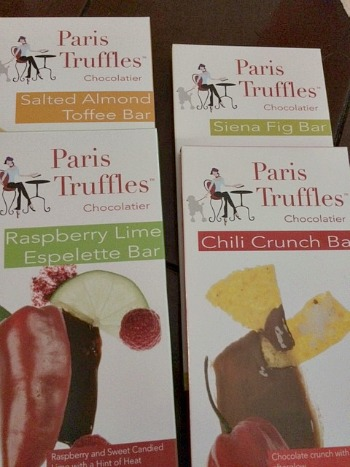 Paris Truffles Chocolate Bars 4 flavors
