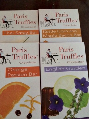 Paris Truffles Chocolate Bars 4 other flavors