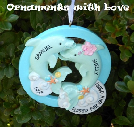 ornaments with love dolphins ornament