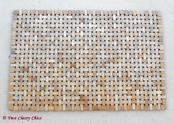 wood doormat