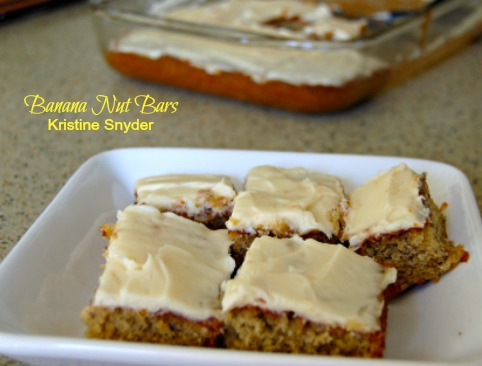 Banana Nut Bars Recipe by kristine snyder