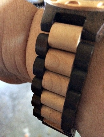JORD Wood Watches Sully Watch Band in black and maple