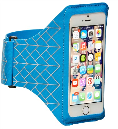STM iPhone armband in blue
