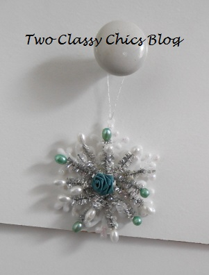 Craft Project: Dollar Store Snowflake Holiday Ornaments