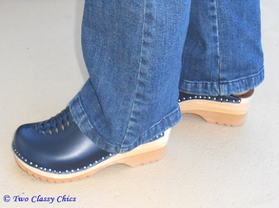 blue superior clogs