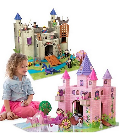 castle building play set