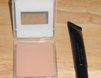 concealer and pressed powder
