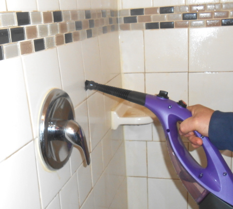 window steamer cleaning tile
