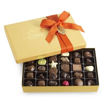 godiva chocolates in gift box