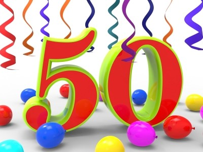 Number Fifty Party Shows Happiness And Celebrations by Stuart Miles freedigitalphotos
