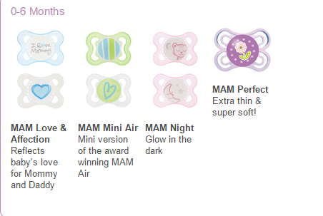 MAM pacifiers