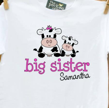 big sister print tee