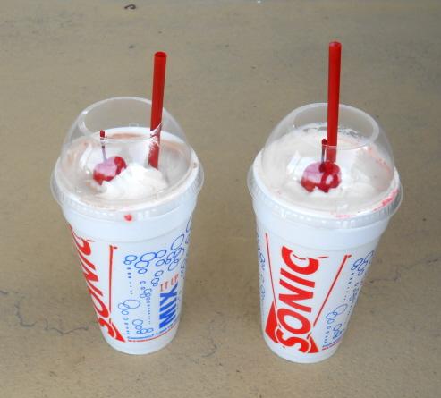 Sonic Drive-In Milkshakes