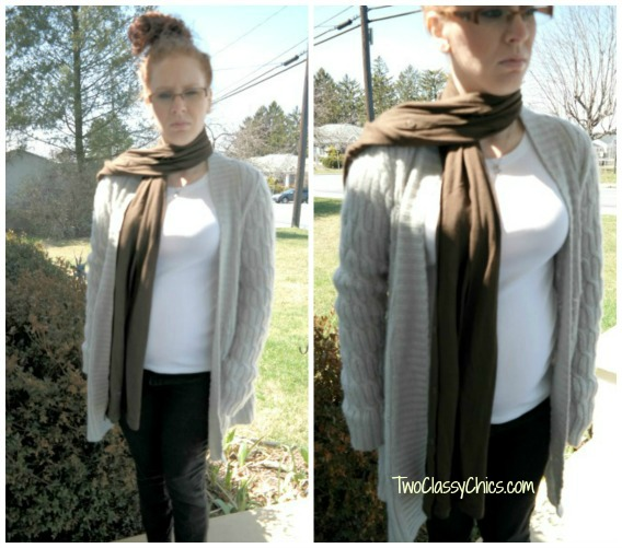 HABA allover nursing scarf in brown
