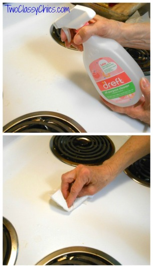 using dreft to clean stove top